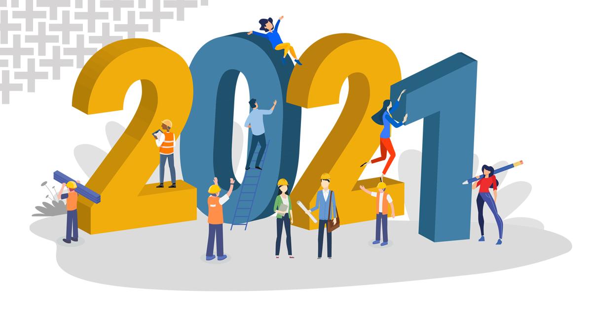 Feliz 2021!! Um ano que promete para a construção civil!